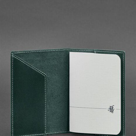 Кожаная обложка для паспорта 3.0 изумруд
