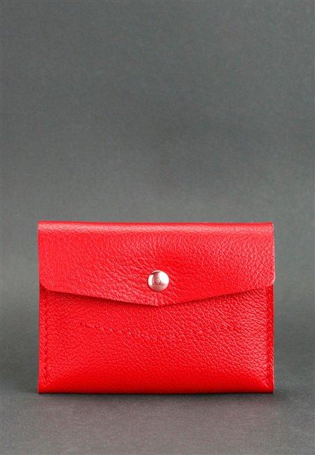 Кошелек кожаный Мини 2.1 Красный