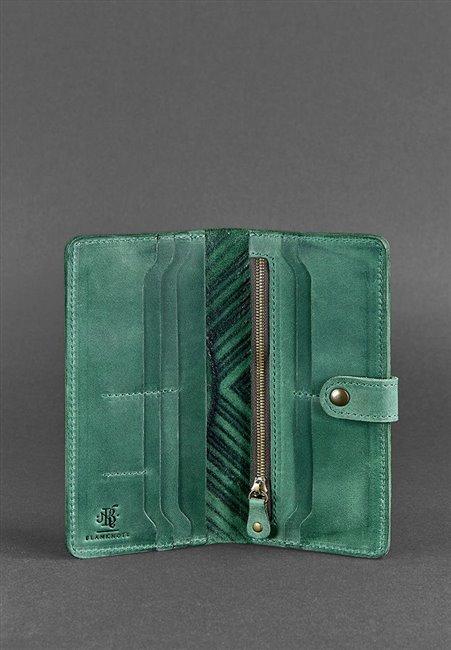 Портмоне кожаный 7.0 Ловец снов Зеленый