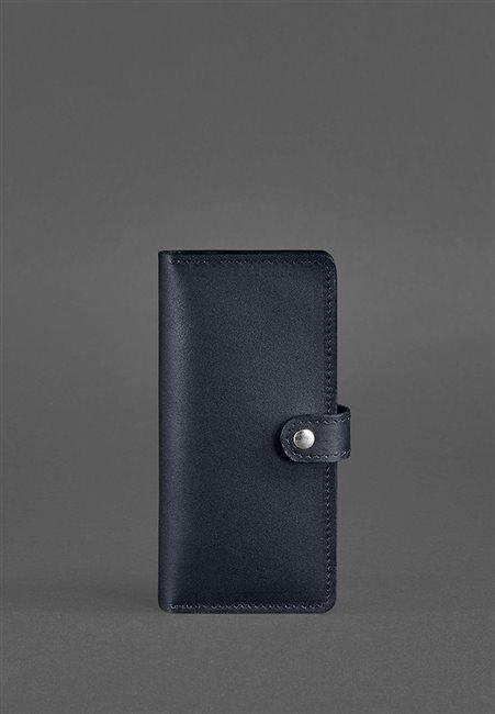 Портмоне кожаный 7.0 Темно-синий