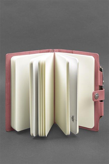 Кожаный блокнот (Софт-бук) 4.0 розовый