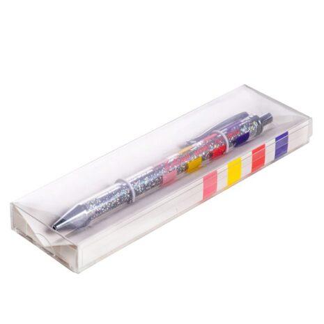 Металлическая ручка с глиттером в коробке Follow your dreams