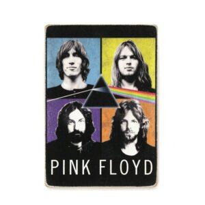 """Постер """"Pink Floyd. Пинк Флойд. Состав. Цветной коллаж"""""""