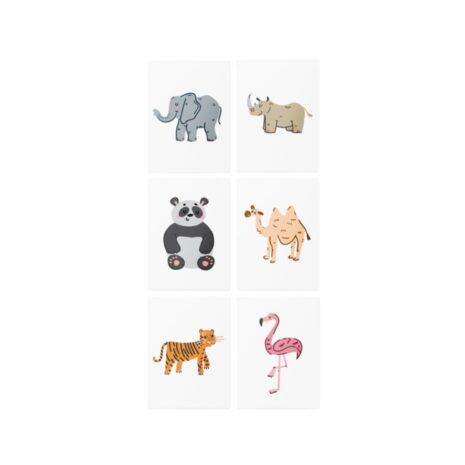 """Тимчасові тату з доповненою реальністю TATTon.me """"Asian animals AR set"""""""