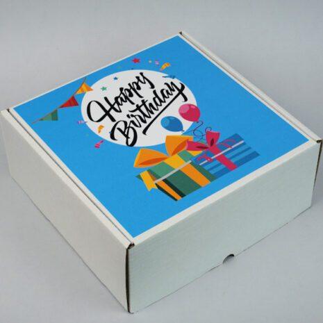 Коробка подарочная для бокса 200Х200Х85БЕЛЫЕ