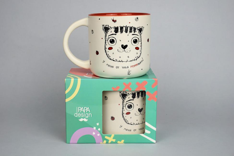 чашка с котиком подарок