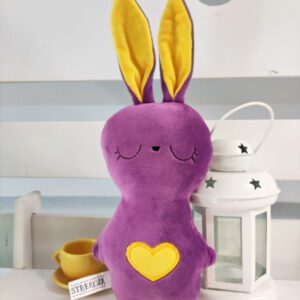М'яка іграшка Strekoza Заєць Засыпаяц 20см фіолетовий