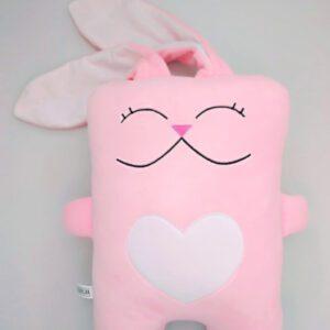 Іграшка-подушка Strekoza Закоханий Заєць 34см рожевий