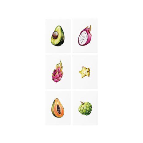 """Тимчасові тату TATTon.me """"Tropical Fruits set"""""""