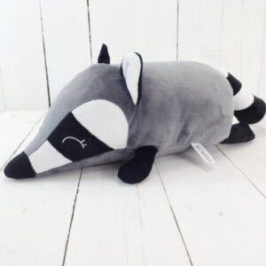 М'яка іграшка подушка валик Strekoza малюк Єнот 31см сірий