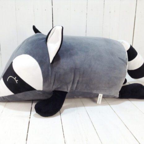 М'яка іграшка подушка валик Strekoza малюк Єнот 60 см сірий