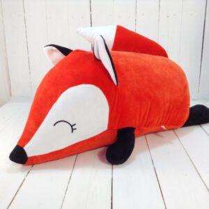 М'яка іграшка подушка малюк Фоксі 60 см червоний