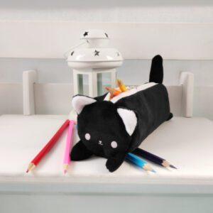 Пенал котик Айсі 19см чорний