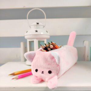 Пенал котик Айсі 19см рожевий