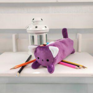 Пенал котик Айсі 19см фіолетовий