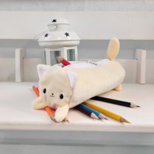 Пенал котик Айсі 19см беж