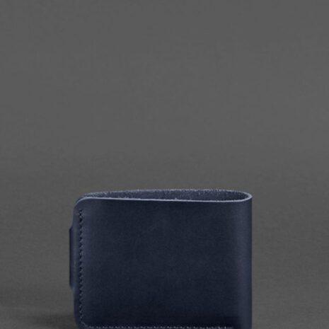 Кожаное портмоне 4.3 темно-синее
