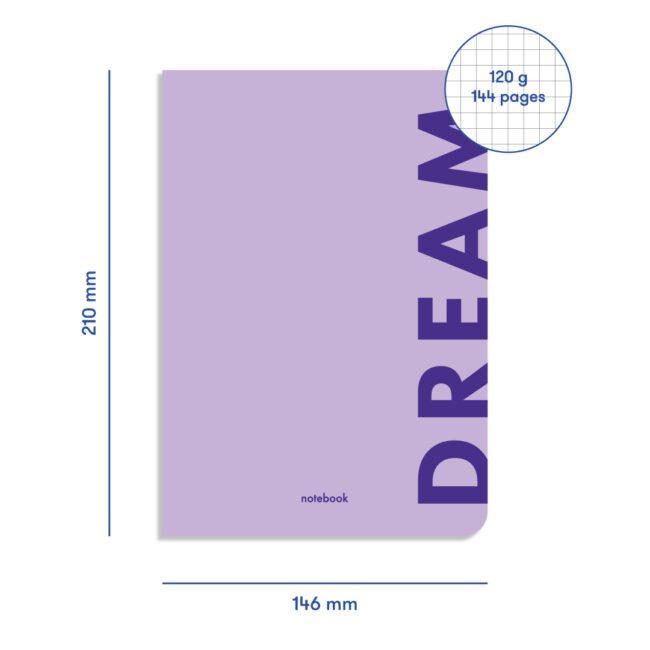 Блокнот в клетку Orner Dream фиолетовый