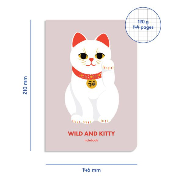 Блокнот в клетку Wild and Kitty