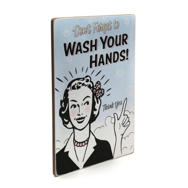 Постер Don't forget to wash your hands. Thank you