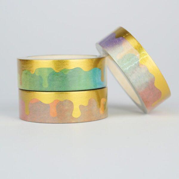Скотч декоративный градиент с золотом