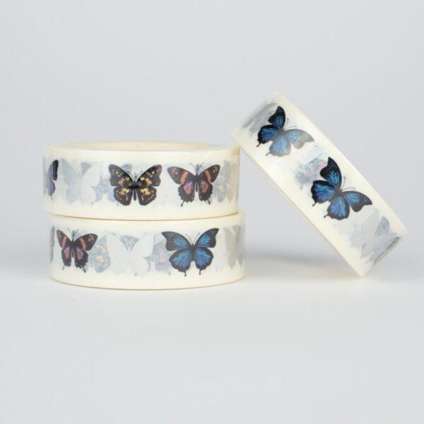 Скотч декоративный бабочки на белом