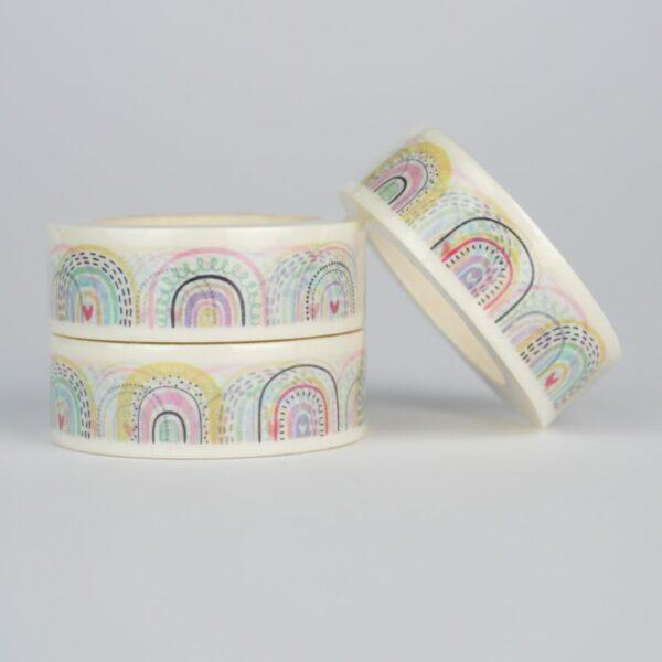 Скотч декоративный радуга