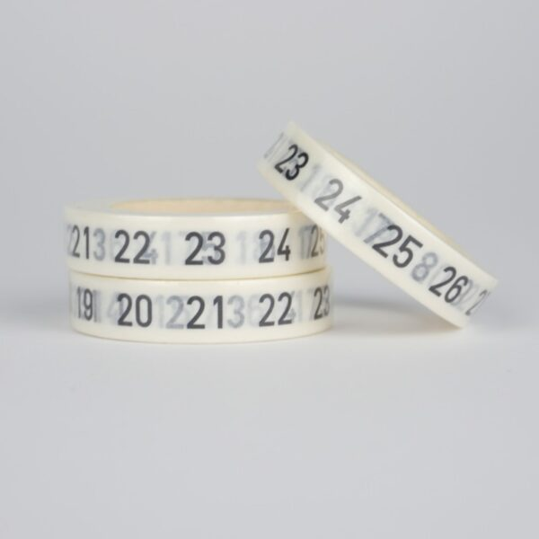 Скотч декоративный числа