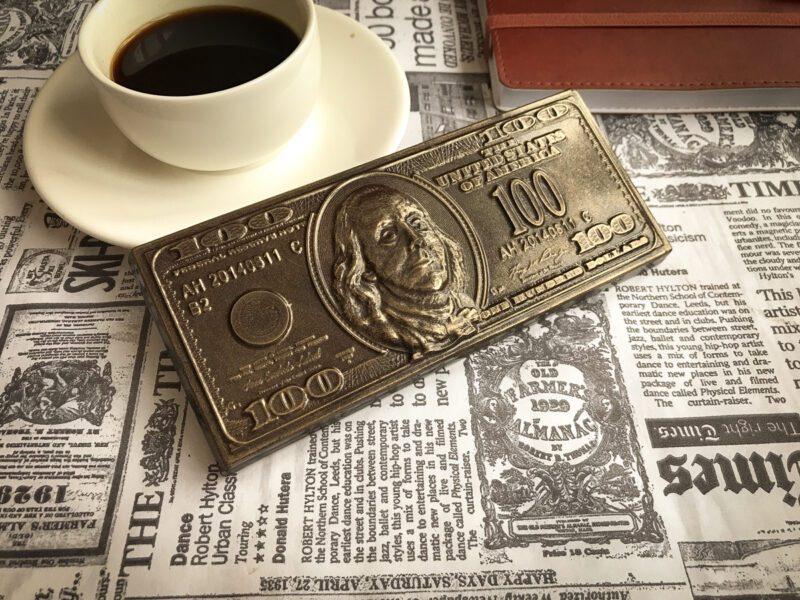 Шоколад подарочный 100 долларов